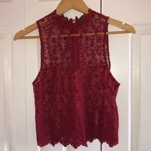 Forever 21 red lace tank